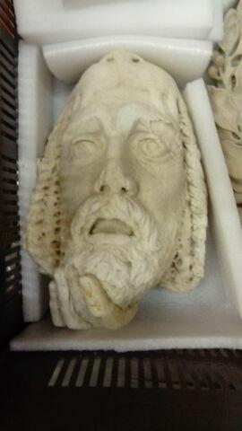 Fragment de Melpomène ou la tragédie, masque de théatre