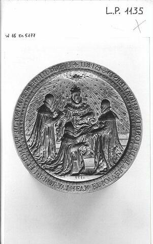 Matrice du sceau de l'ordre du Saint-Esprit : Henri III recevant des chevaliers de l'ordre du Saint-Esprit