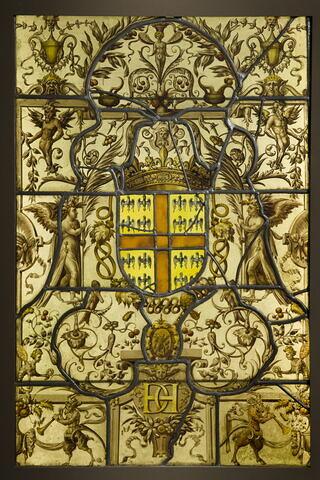 Panneau aux armes du connétable Anne de Montmorency et au chiffre d'Henri II, exécuté pour le château d'Écouen