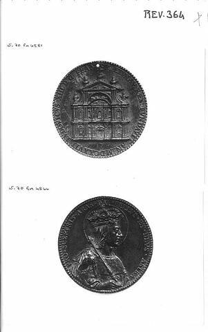 Médaille : Louis IX / façade de l'église Saint-Paul- Saint-Louis