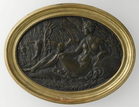 Bas-relief encadré : nymphe