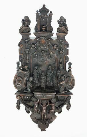 Bénitier d'applique en bronze