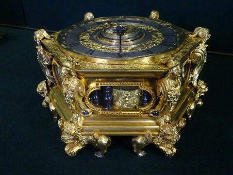Horloge de table hexagonale