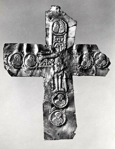 Plaque de revêtement de Croix : Le christ et sept médaillons