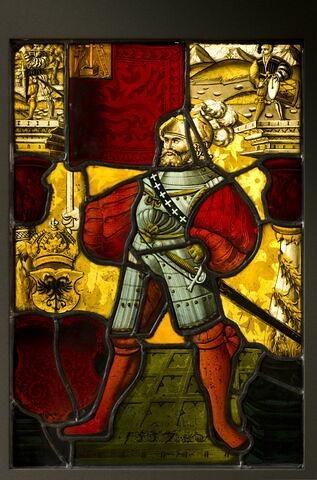 Panneau rectangulaire aux armes de l'État de Schwiz et du Saint Empire