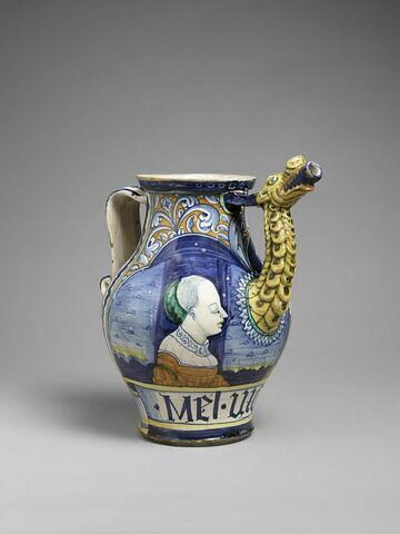 Chevrette : un homme et une femme, en buste, de profil. Provient de la pharmacie Orsini-Colonna  Cat. Campana n° 498