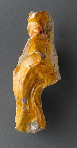 Fragment : plis d'une étoffe jaune
