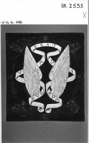 """Plaque : """"Devise d'Anne de la Tour, comtesse d'Auvergne"""""""