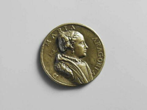 Médaille : Marie d'Aragon / revers lisse