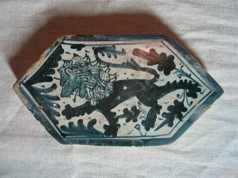 Carreau hexagonal : Lion