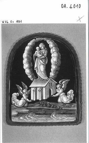 Plaque : L'Arrivée de la maison de la Vierge à Lorette
