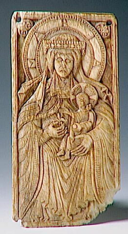 Plaque : Vierge à l'enfant
