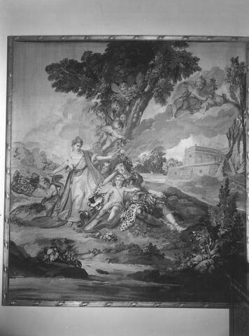Le sommeil de Renaud, de la tenture tissée pour le salon de compagnie du fermier général Pierre-Isaac Marquet de Peyre