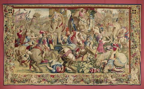 La bataille de Zama, de la tenture de l'Histoire de Scipion