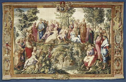 Le Parnasse, de la tenture des Chambres du Vatican