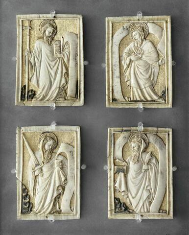 Plaques de coffret : Apôtres.