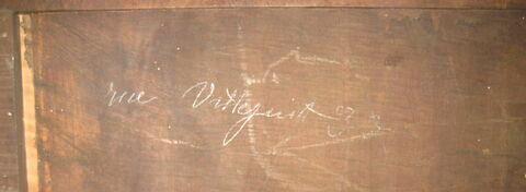 détail inscription ; dos, verso, revers, arrière © 2010 Musée du Louvre / Objets d'art du Moyen Age, de la Renaissance et des temps modernes