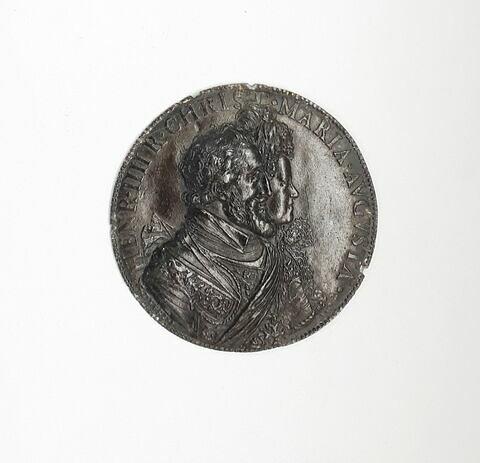 Médaillon : bustes accolés d'Henri IV et Marie de Médicis
