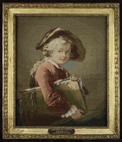 Tableau en tapisserie : le jeune Elève