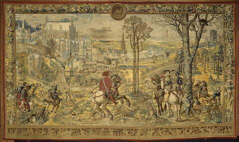 Le mois de mars ou Le signe du bélier ou La chasse au faucon, de la tenture des Chasses de Charles Quint