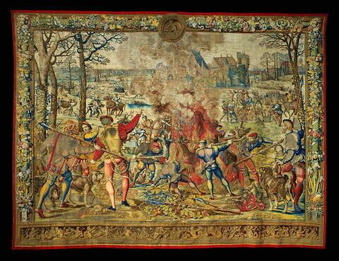 Le mois de janvier ou Le signe du verseau ou La flambée du sanglier, de la tenture dite des Chasses de Maximilien