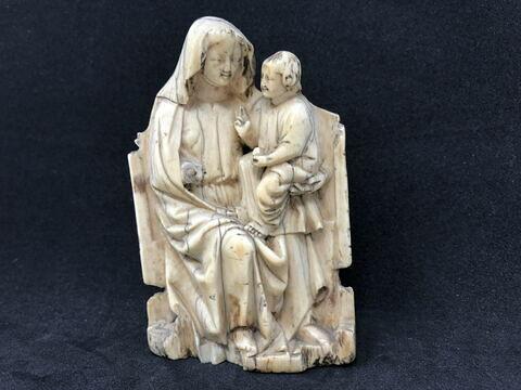 Figure d'applique : Vierge à l'Enfant trônant