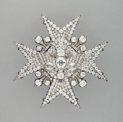 Plaque de l'Ordre du Saint-Esprit offerte par Louis XV à l'infant de Parme