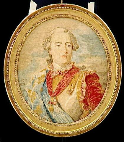 Médaillon ovale : Louis XV