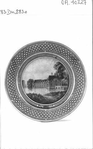 """Asssiette """"Château de Chantilly"""""""