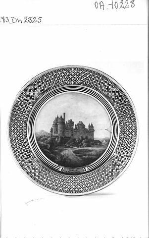 """Assiette """"Château de Pierrefonds"""""""