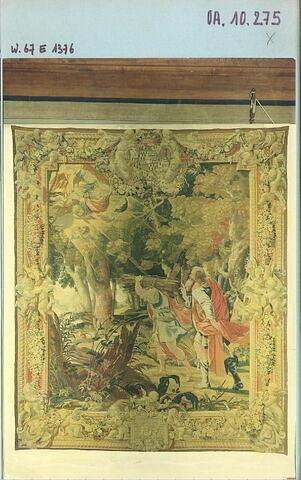 Abraham et Isaac se rendant au sacrifice, de la tenture de l'Ancien Testament