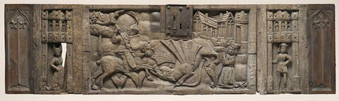 Devant de coffre : saint Georges terrassant le dragon