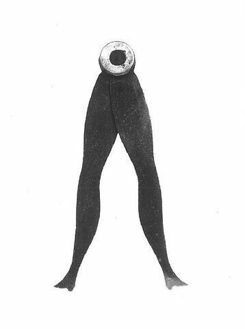 Compas de calibre décoratif, dit compas maître à danser