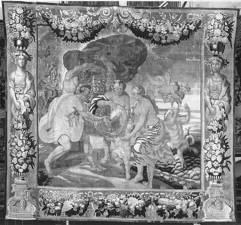 Thétis recevant de Vulcain des armes pour Achille, de la tenture de l'Histoire d'Achille
