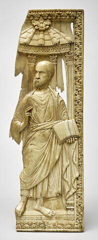 Feuillet de diptyque en ivoire : saint Paul