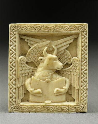 Plaquette : le bœuf, symbole de l'évangéliste Luc
