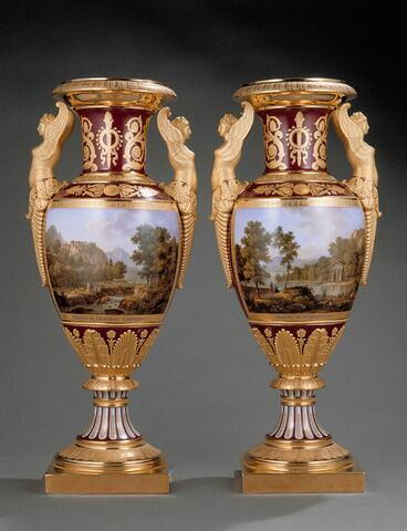 """Vase """"Origine du chapiteau corinthien"""", d'une paire avec OA 11267"""