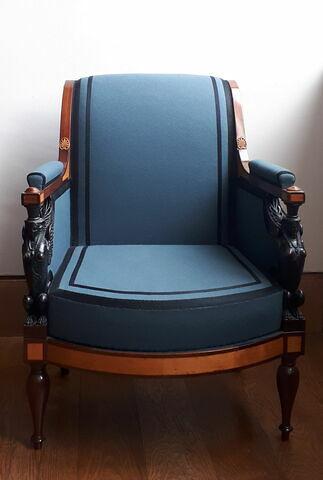 Bergère du salon de Madame Récamier (OA 11384 à 11391), d'une paire avec OA 11385
