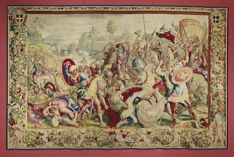 Le Combat du Tessin,  de la tenture de l'Histoire de Scipion