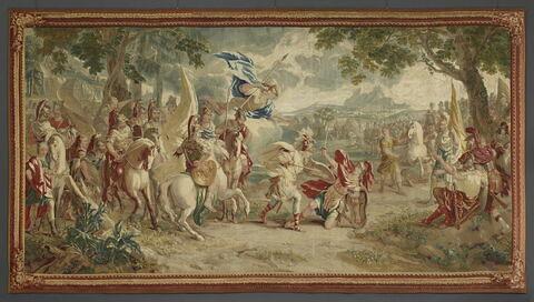 Le Combat de Télémaque et d'Iphiclès, fils du roi Adraste, de la tenture de l'Histoire de Télémaque.