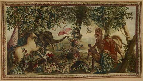 L'Eléphant ou le cheval isabelle, de la tenture des Indes