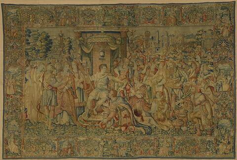 Une soumission (?), d'une tenture de l'histoire romaine