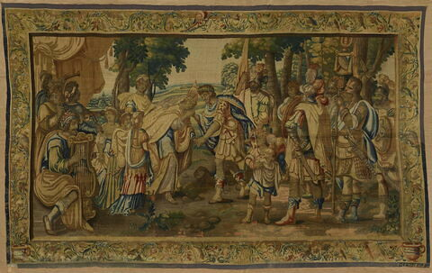 La Rencontre d'Antoine et de Cléopâtre, reine d'Egypte, de la tenture de l'Histoire d'Antoine et Cléopâtre