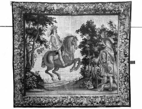 Le Manège à passades, de la tenture des.Exercices équestres de Louis XIII