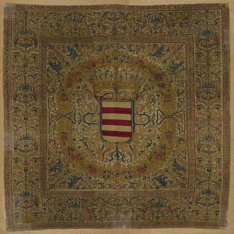 Panneau d'une tenture héraldique aux armes de la famille du conquistador Nicolas de Ribera y Laredo