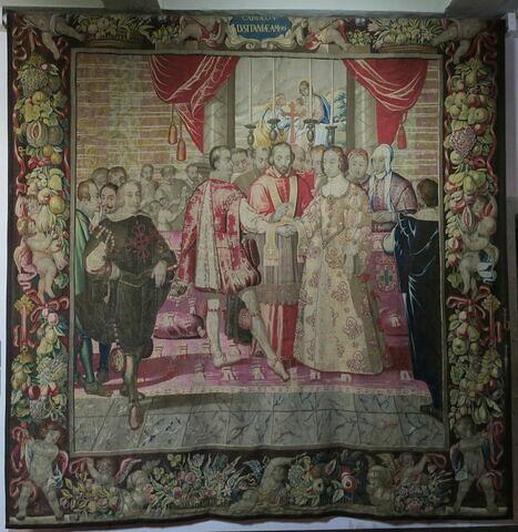 Le mariage, de la tenture de l'Histoire de Charles Quint