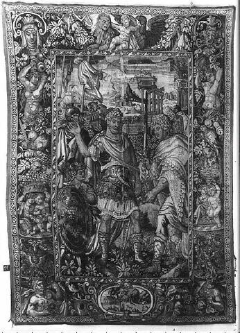 La Soumission de Labiénus, d'une tenture l'Histoire de Pompée