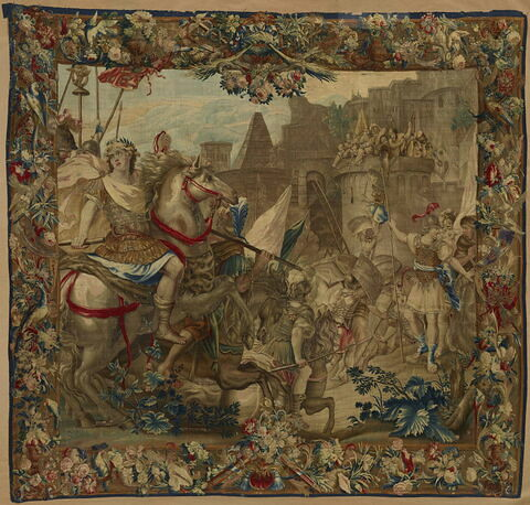 La prise de Jérusalem, de la tenture de l'Histoire de Titus et Vespasien