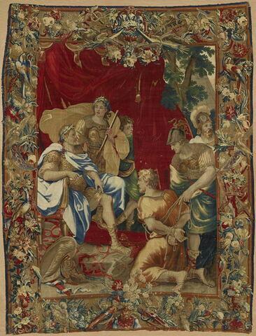 Joseph présenté à Vespasien ou La Clémence de Titus, de la tenture de l'Histoire de Titus et Vespasien