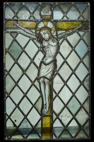 Panneau rectangulaire : Christ en croix